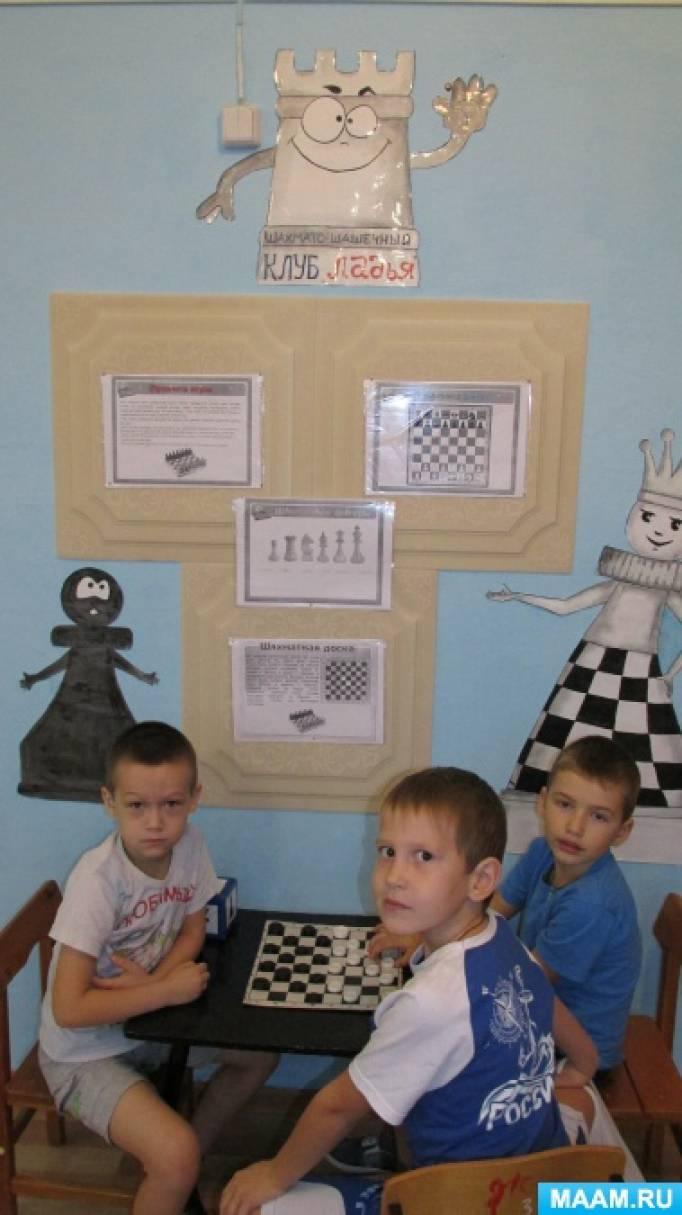 Предметно-развивающая среда в ДОУ «Шахматы»