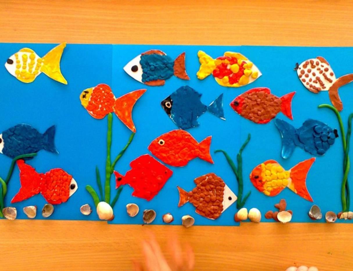 Средняя группа конспект лепка аквариум