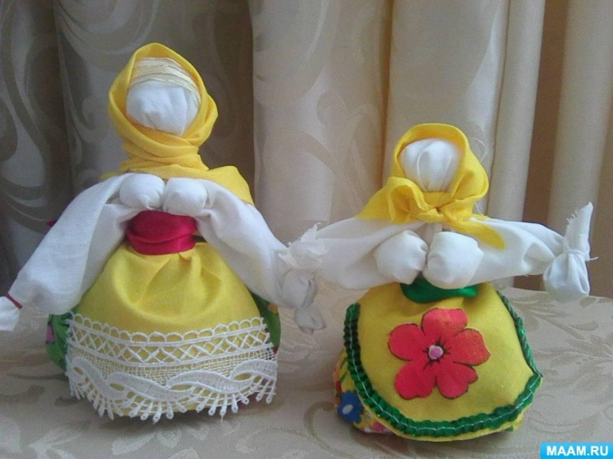 Тряпичные куклы обереги поэтапно