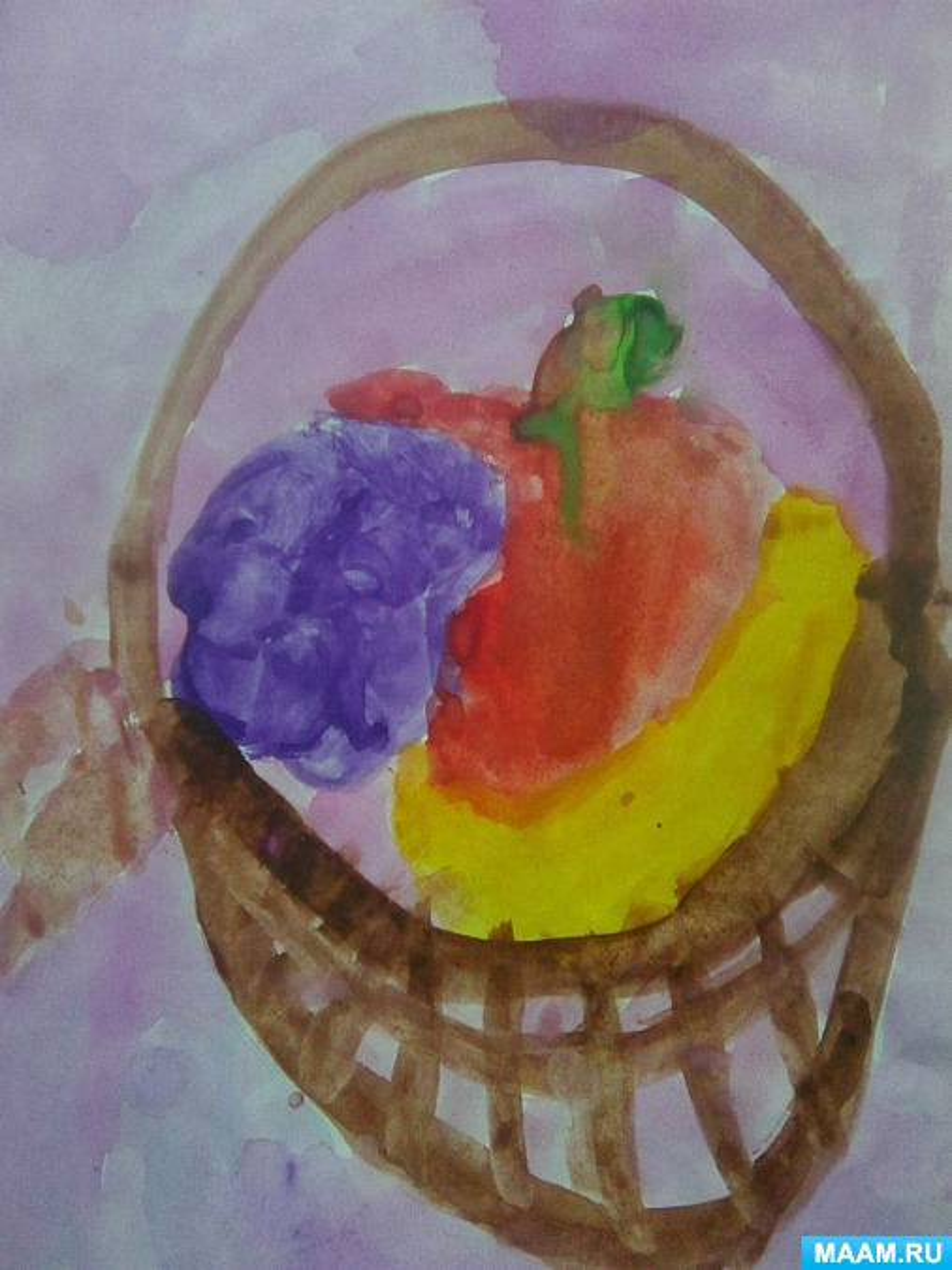 Рисование с натуры «Фрукты в корзинке»