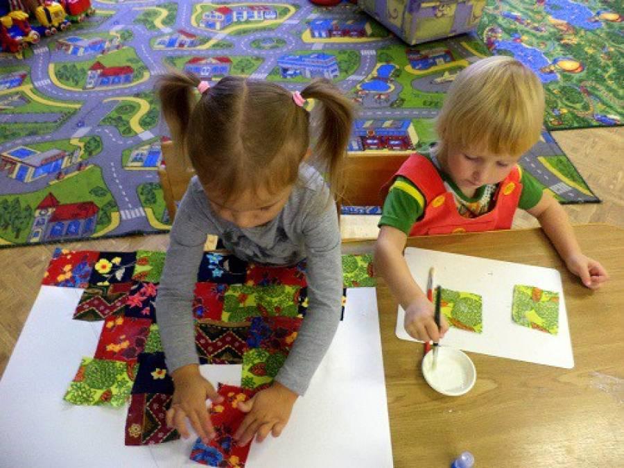 знакомство детей младшей группы с искусством