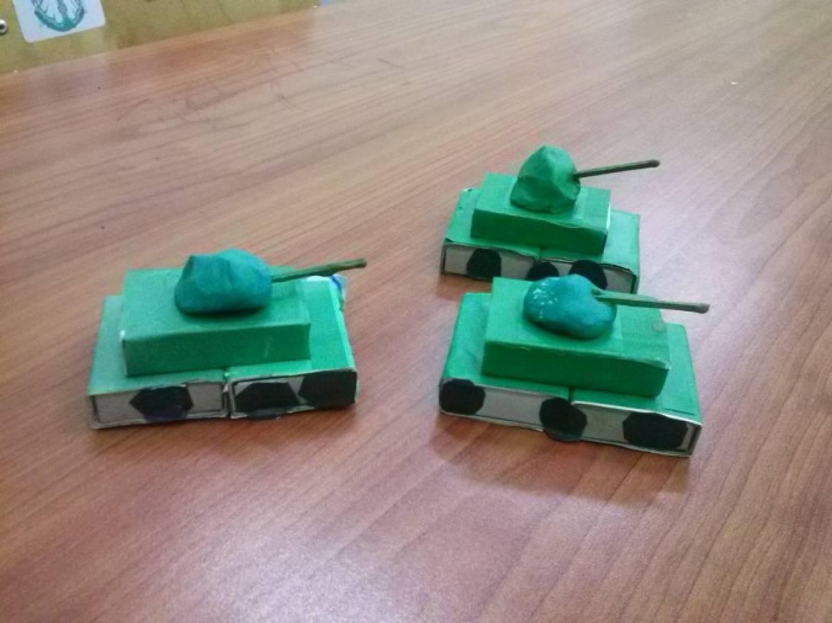 Поделка танка из бумаги для детей