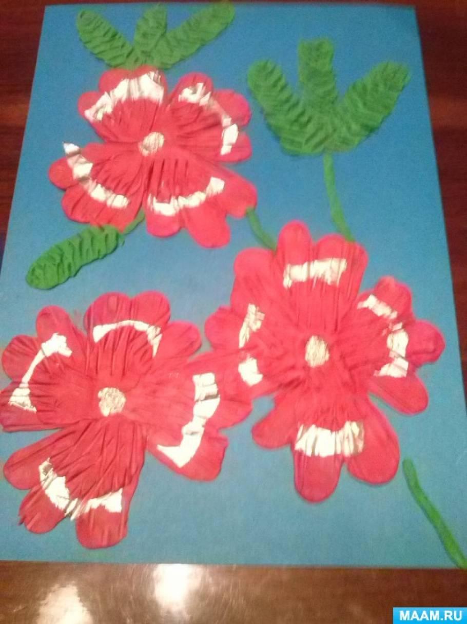 Мастер-класс «Барельефная лепка «Цветы» с использованием фольги»
