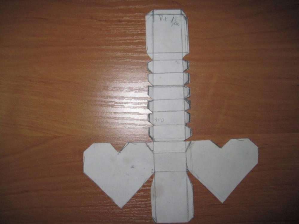 Как сделать 3d сердце из бумаги своими руками 87