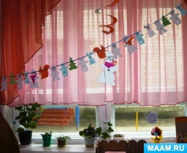 Мастер-класс по изготовлению новогодней гирлянды из бумаги своими руками