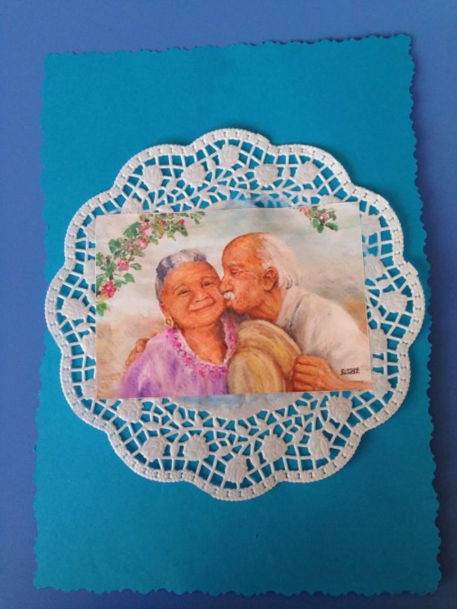 Надписью, поделки и открытки ко дню пожилого человека
