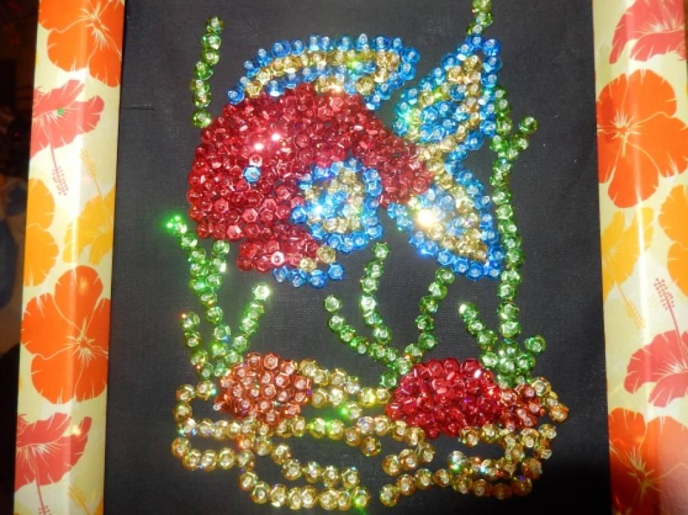 Вышивка паетками для ребенка