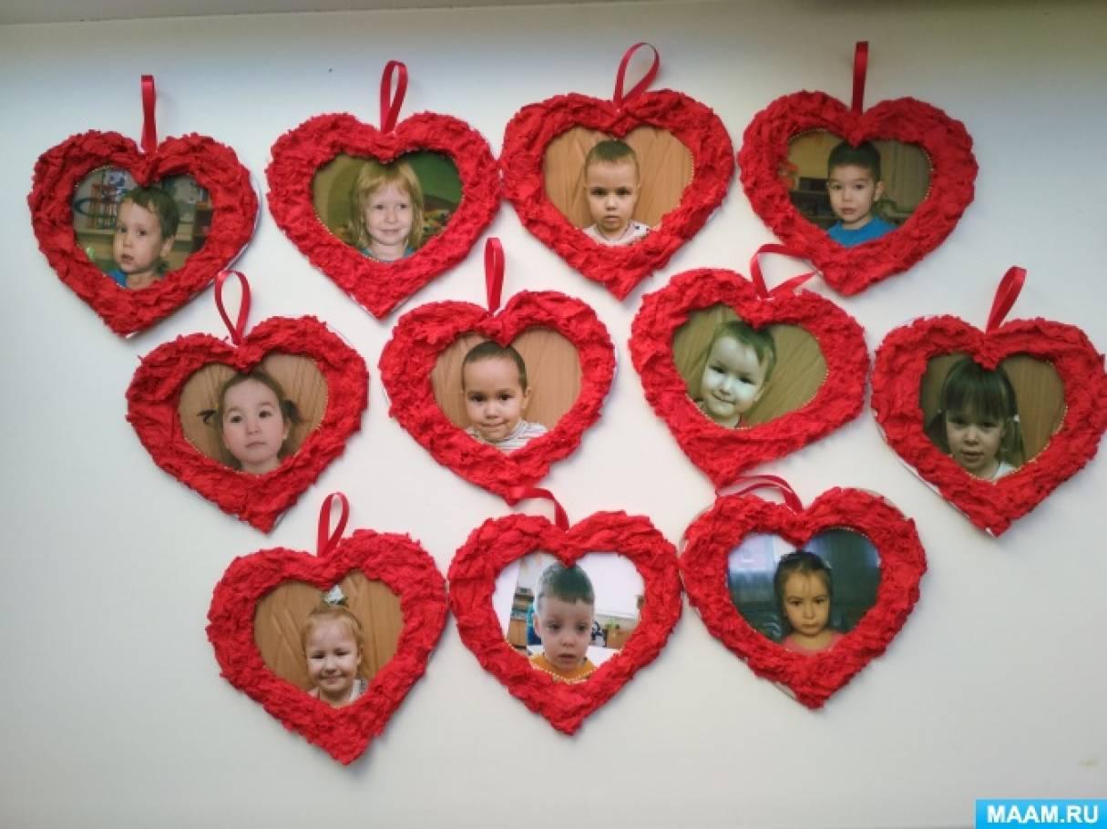 Сердечки-валентинки от малышей при помощи техники «мокрая бумага»