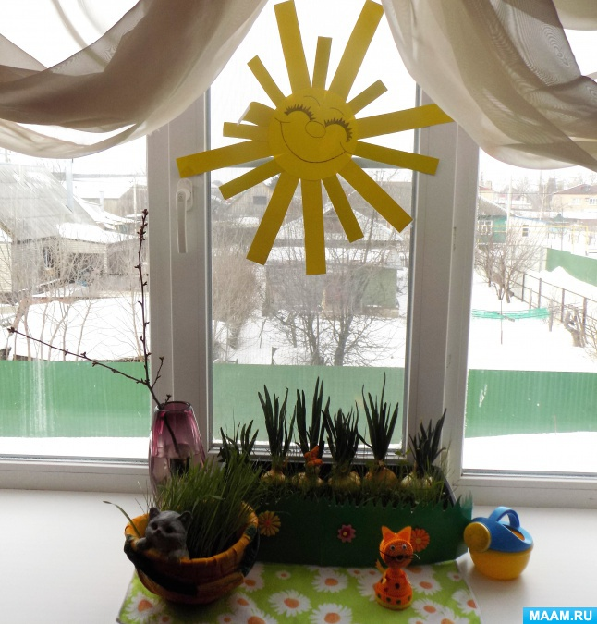 Фотоотчет о смотре-конкурсе «Огород на окне»