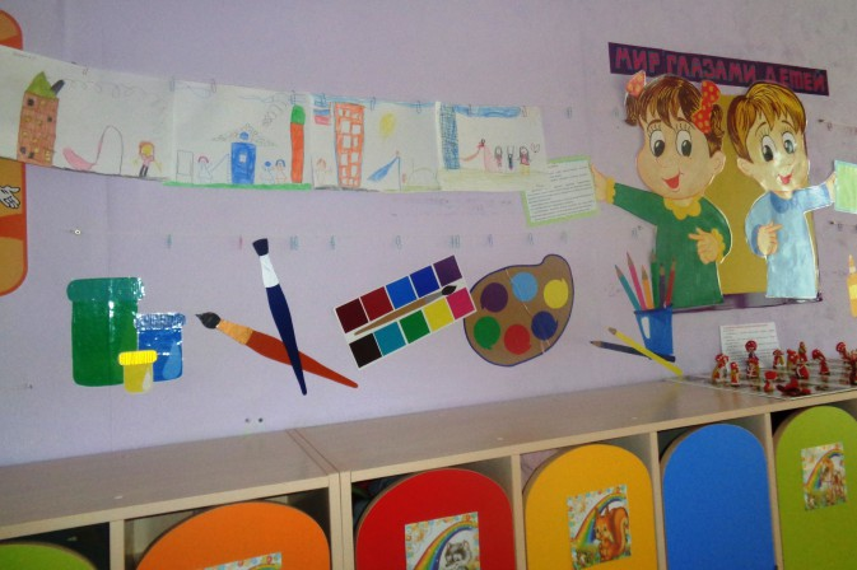 Как оформить уголок творчества в детском саду своими руками фото