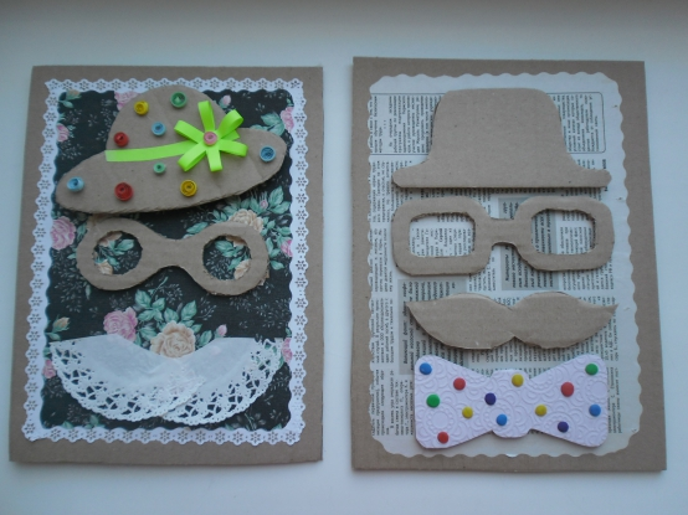 Картинки, как сделать открытку на день рождения своими руками дедушке из бумаги