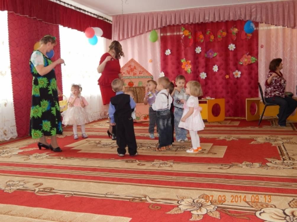 Отчет о проведении весеннего праздника-развлечения в первой младшей группе «Мамин день»