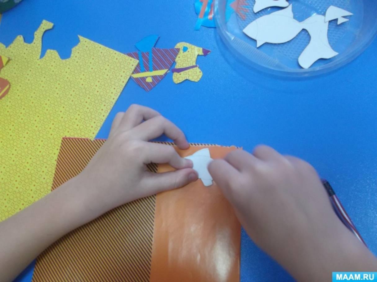 Сухой аквариум изготовленный совместно с детьми разновозрастной группы