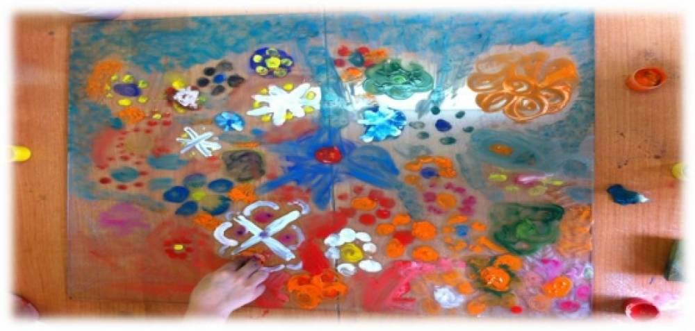 Рисунок на стекле арт-терапия