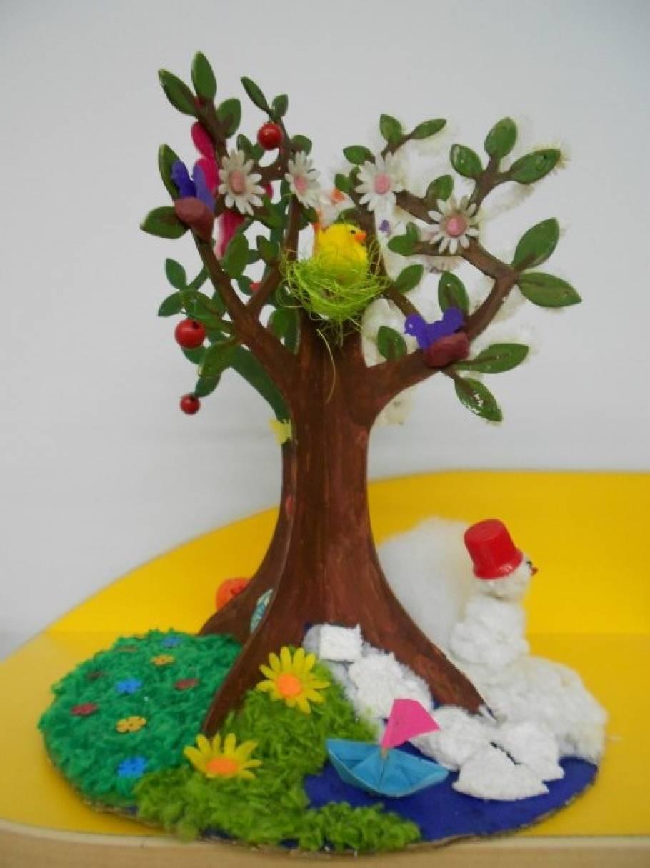 Дерево времен года в детском саду своими руками 942