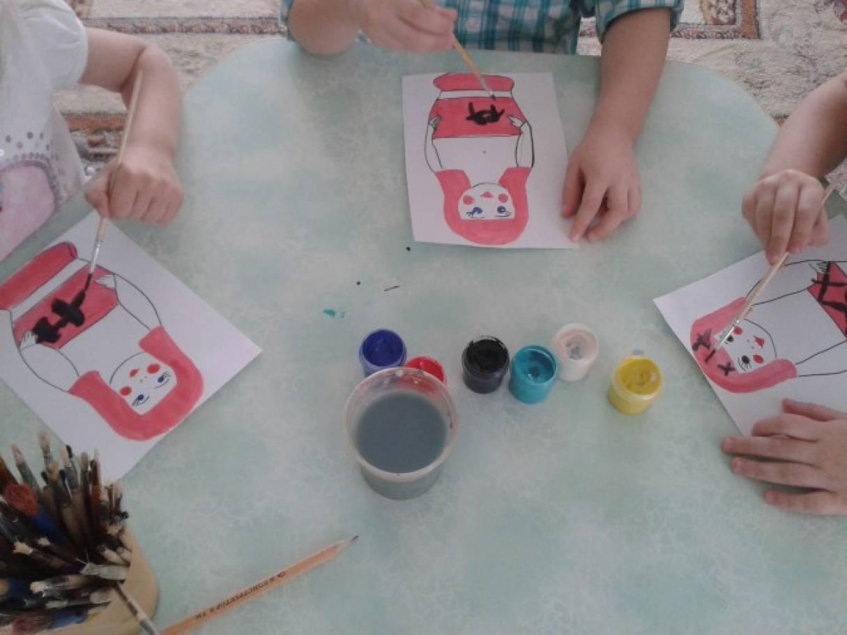 Конспект занятия в средней группе по рисованию узор для фартука