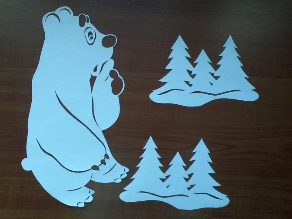 страна мастеров большая медведица трафареты на окна