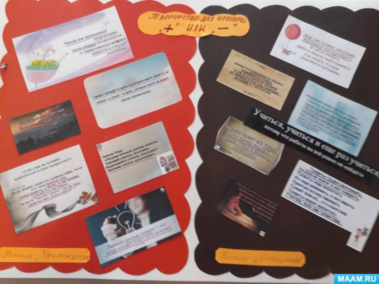 Педсовет «Развитие креативного мышления у дошкольников средствами различных видов деятельности» в форме защиты альманаха