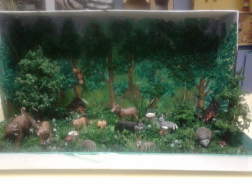 Макет леса своими руками фото 330