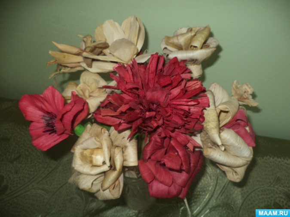Мастер-класс «Плетение розы из талаша»