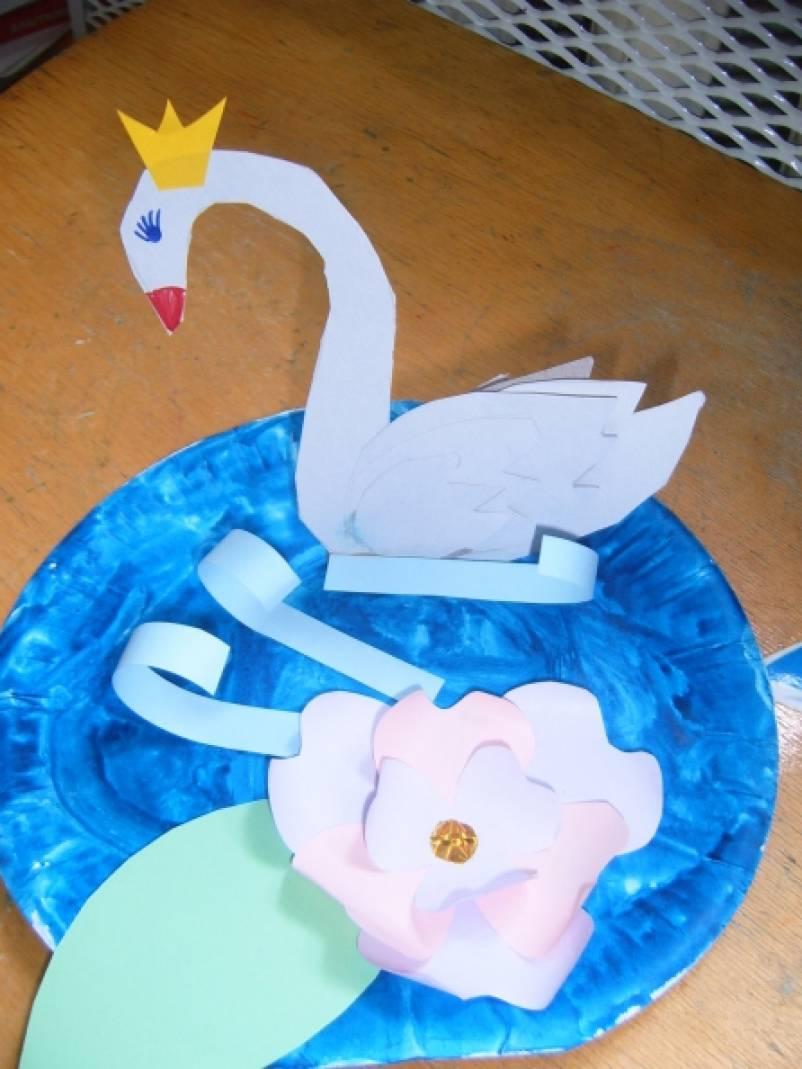 «Царевна Лебедь». Аппликация