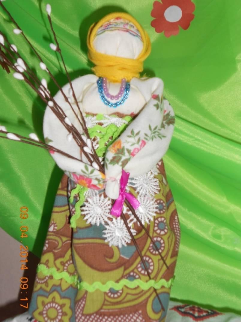 Русская народная традиционная обрядовая кукла-оберег «Вербница»
