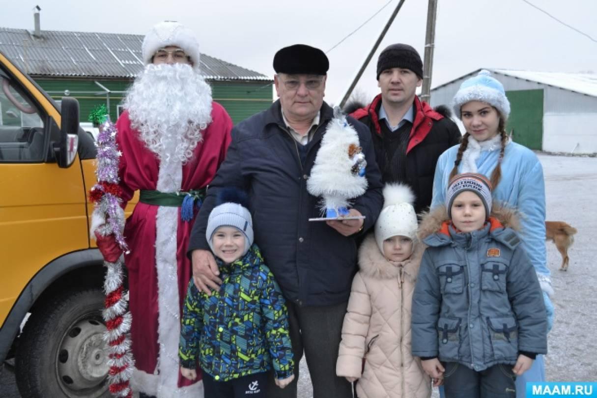 Новогодние и Рождественские поздравления нашей агитбригады (фотоотчёт)