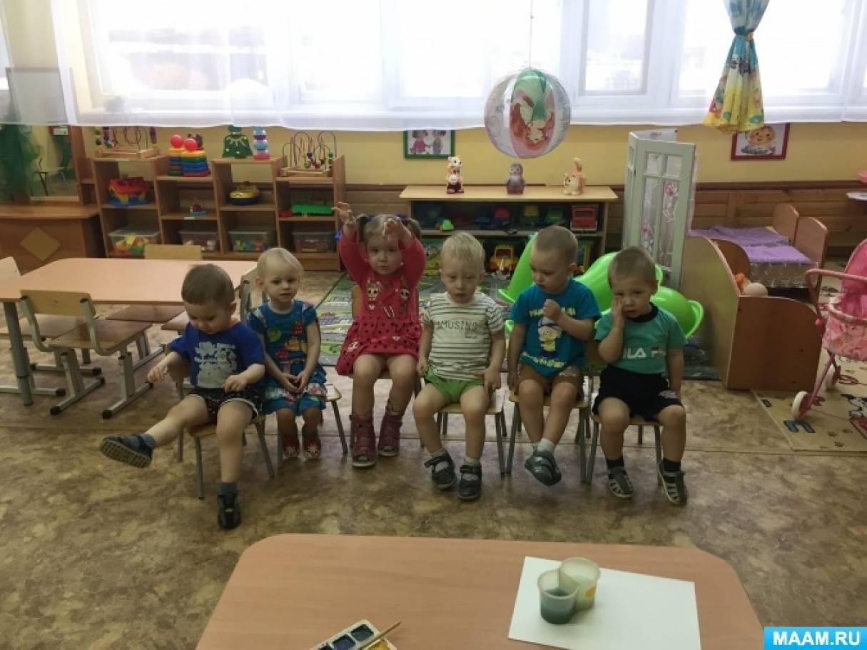 Конспект занятия по рисованию ватными палочками в группе раннего возраста «Листики распускаются на дереве»