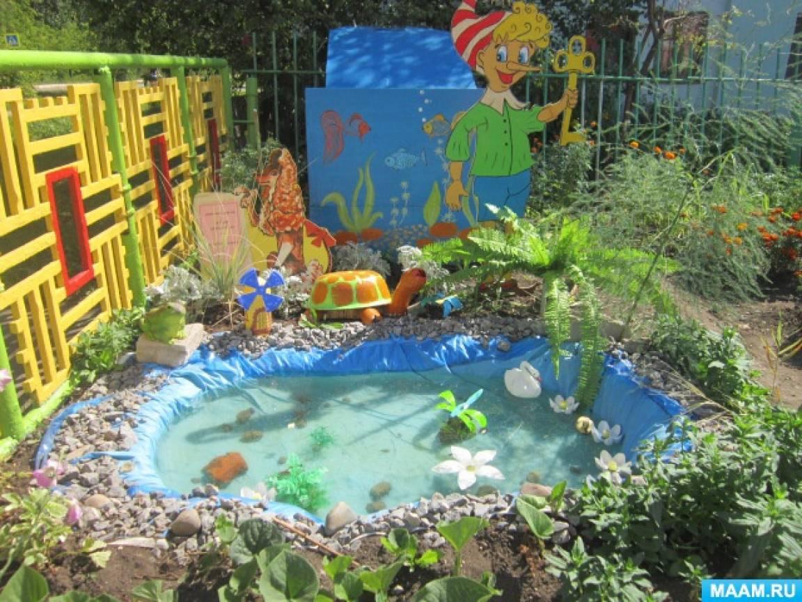 Оформление участка детского сада «Сказки в гостях у детей»