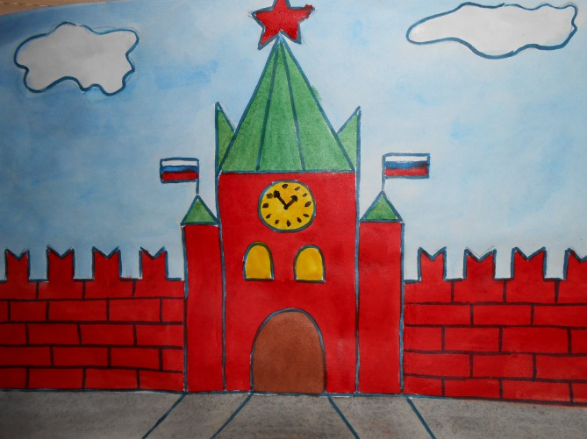 Мастер-класс по изобразительному искусству «Кремль»