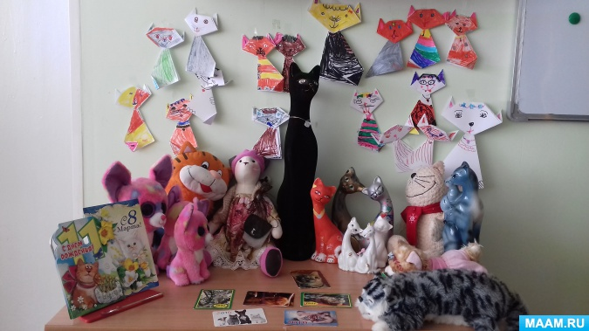 Творческий проект в подготовительной группе «День кошек»