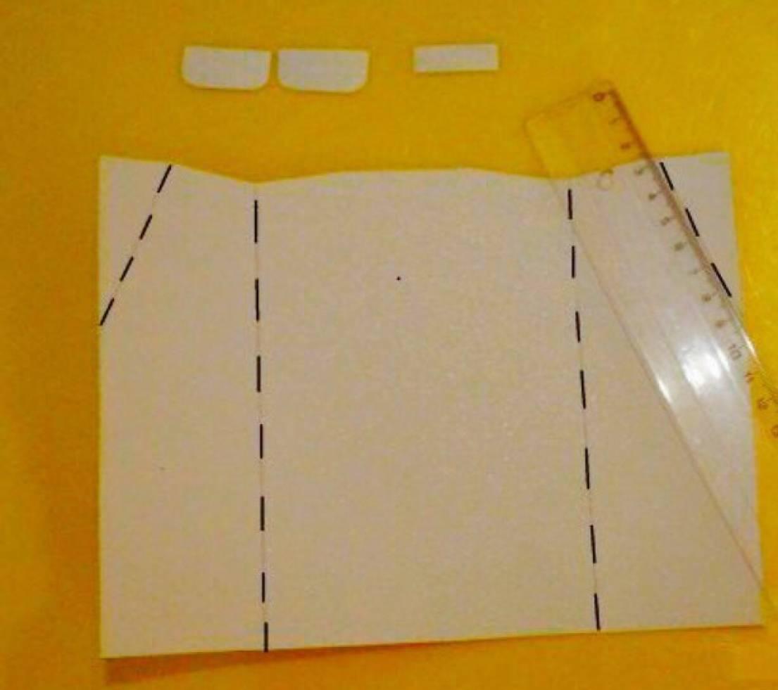 подобранный сгибаем картон для открытки для ознакомления