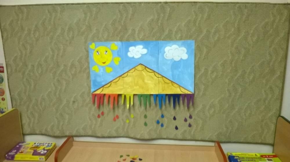 Дидактическая игра для детей средней группы «Разноцветные сосульки»