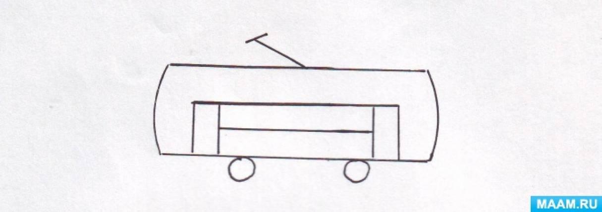 Конспект ООД «Веселый трамвайчик» в рамках образовательной области «Художественно-эстетическое развитие» для детей 5–6 лет