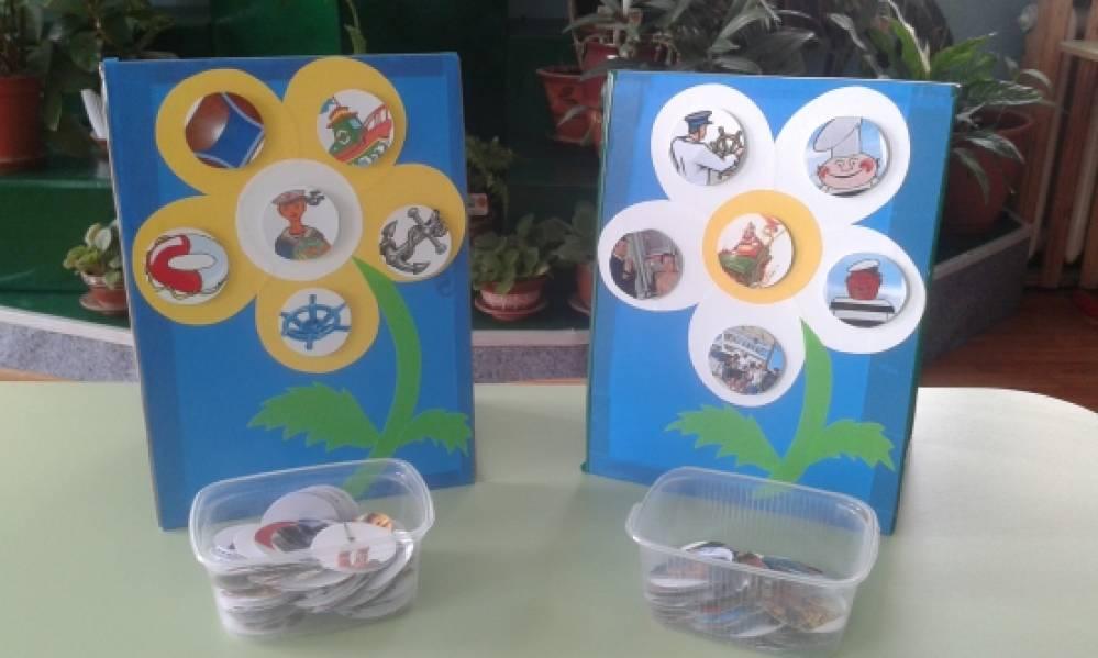 Дидактическое пособие «Игровые ромашки» для самостоятельного планирования совместных сюжетно-ролевых игр детей