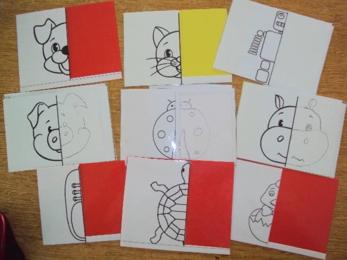 Дидактическое пособие «Картинки-половинки» для детей старшего дошкольного возраста