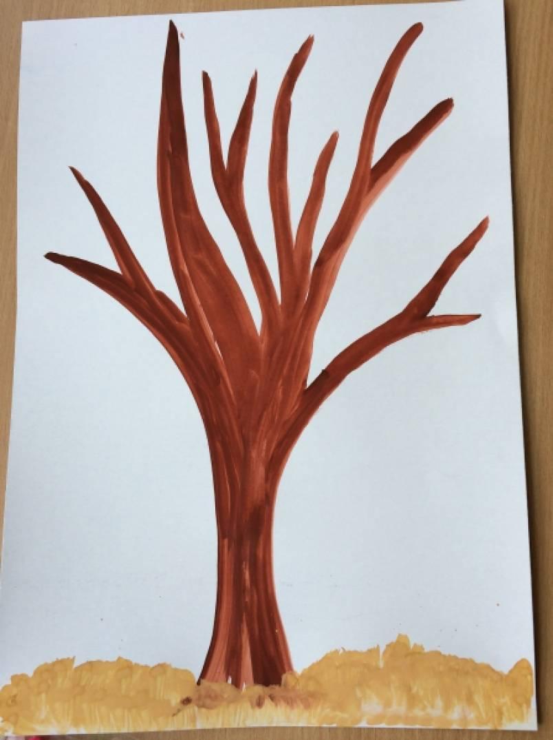 вот раскидистое дерево рисунок в средней группе американскими