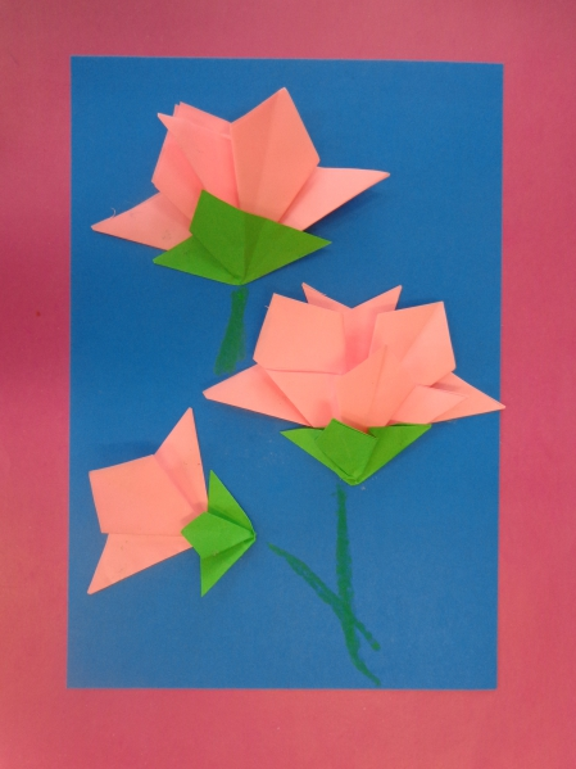 Поделка техникой оригами
