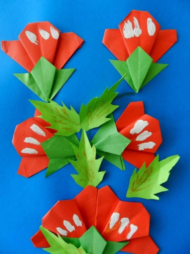 Оригами 6 лет цветы - Поделки из бумаги своими руками: цветы, бабочки, оригами