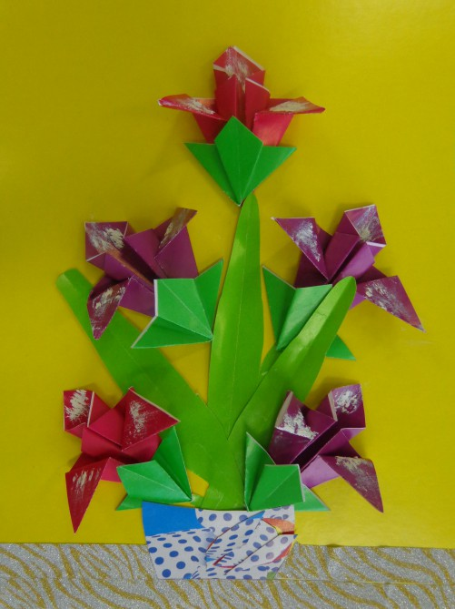 «Ирисы». Оригами. Мастер-класс