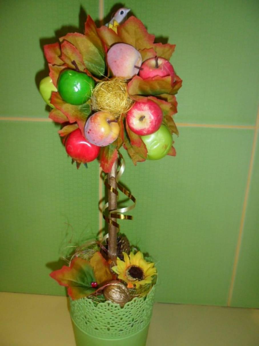 Осенний топиарий для детского сада 157