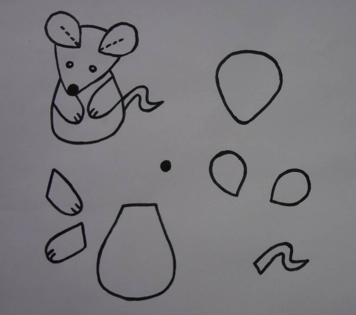Пальчиковый театр из фетра своими руками «Курочка ряба». Мастер-класс и выкройка мышки