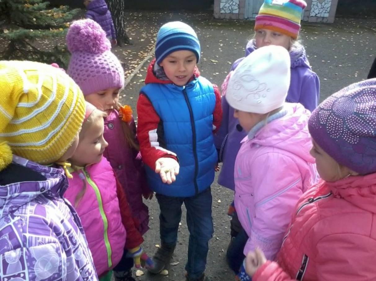 Картинки дети на природе осенью