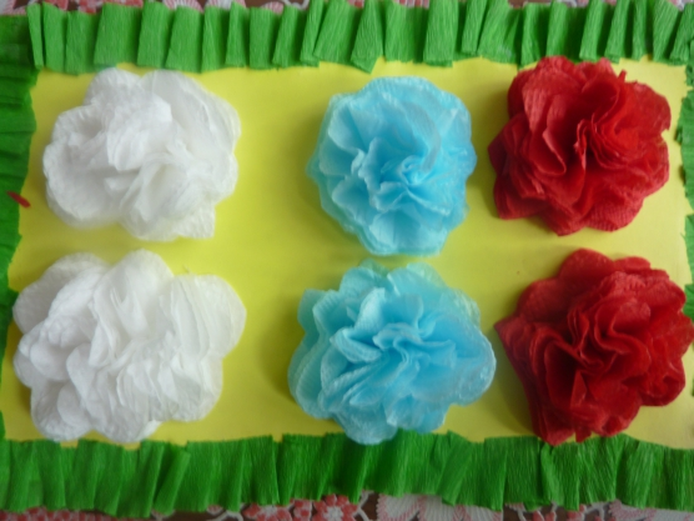Мастер-класс: поделка из салфеток «Цветы России»