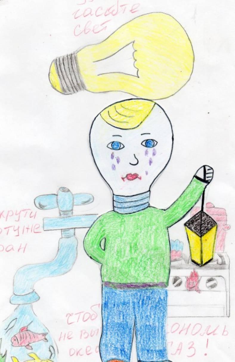 Детские рисунки на грядках