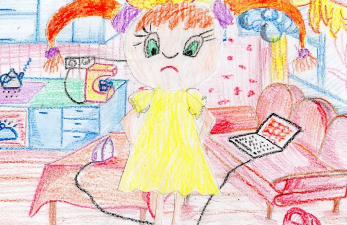 Детские рисунки на тему химия