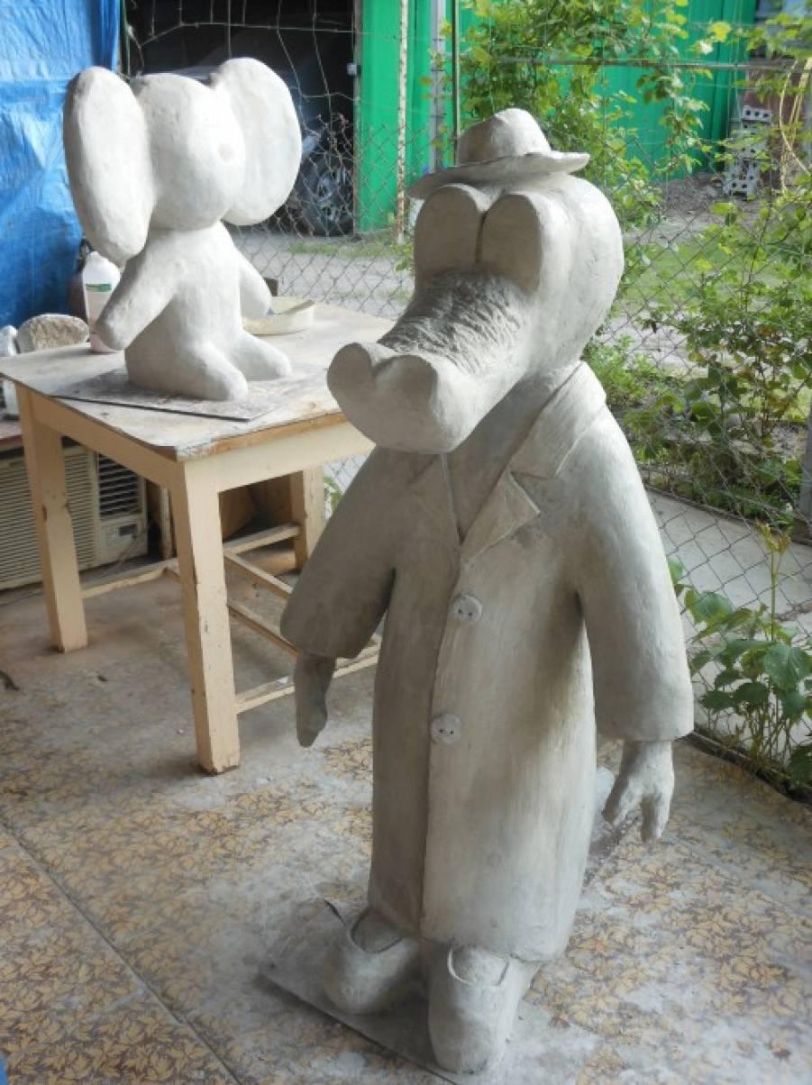 Скульптура из строительной пены своими руками