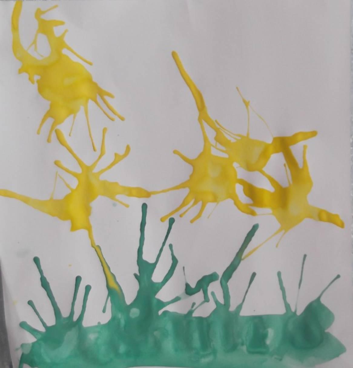 Конспект НОД по рисованию в нетрадиционной технике кляксографии во второй младшей группе «Цветы»