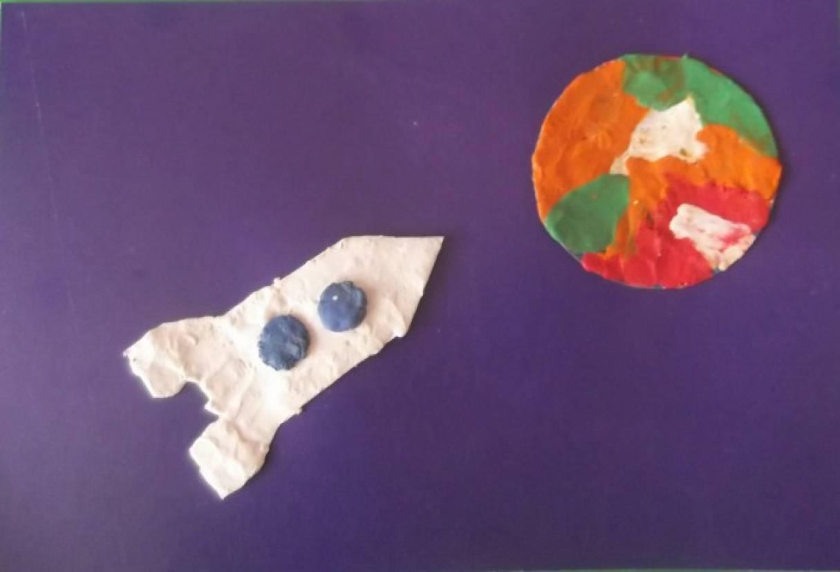 Конспект занятия по пластилинографии «Ракета» в младшей группе