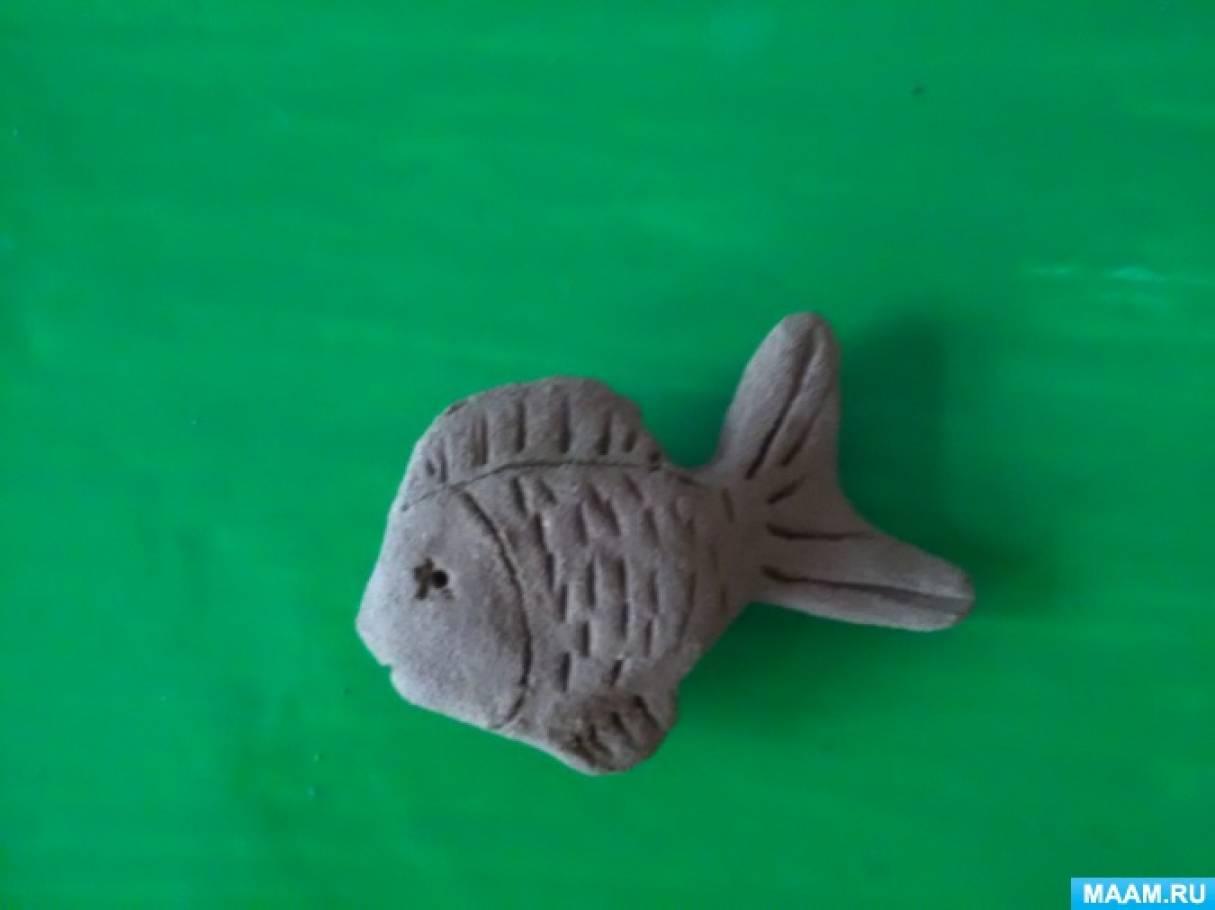 «Рыбка». Конспект НОД по художественно-эстетическому развитию. Лепка (средняя группа)